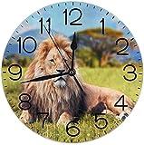 León Savannah - Reloj de Pared Redondo silencioso Que no Ha