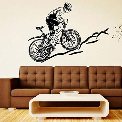 Wuyyii Fahrrad Rennrad Fahrrad Vinyl Aufkleber Bike Sport Wandaufkleber Wandbild Aufkleber Dekor Art Boy Spielzimmer Schlafzimmer Poster78X57Cm
