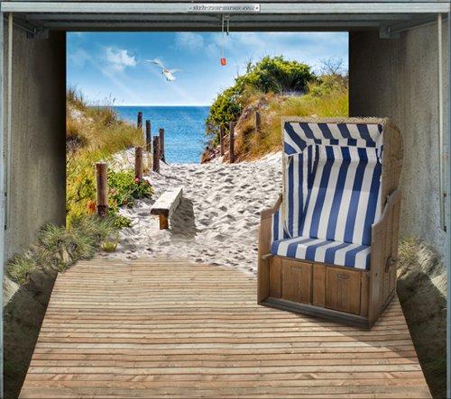 style-your-garage.com Garagentor Fotoplane Dünen und Meer, B 245 cm x H 210 cm