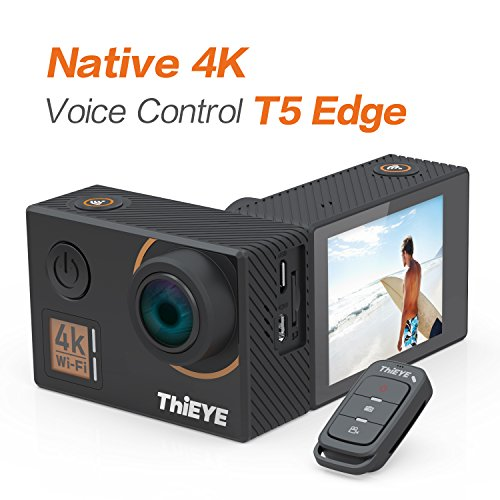 ThiEYE T5 Edge Action Camera,True 4k / 30fps, 20MP, 2.0'IPS Screen, EIS WiFi 60M Impermeabile Fotocamera Subacquea con Telecomando