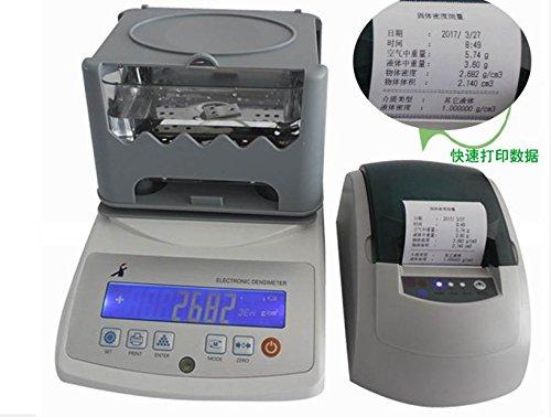 MXBAOHENG Gravimètre numérique à Affichage numérique Solide en Caoutchouc Densité Compteur Gravity Balance Densimètre testeur Machine avec imprimante