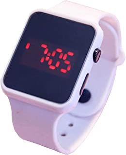 Creative Black and White New Korean Version of The Trend of Men and Women Students Candy Color Jelly Electronic Watch