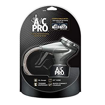 InterDynamics AC Pro Car Air Conditioner R134A Refrigerant AC Recharge Kit Includes Gauge and Hose 24 in ACP410-4  Black