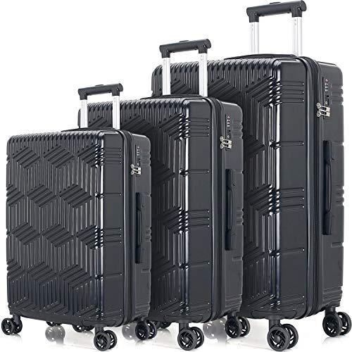 Merax Afuture Luggage Set with TSA Lock Hardside Lightweight Spinner Suitcase 20' 24' 28'