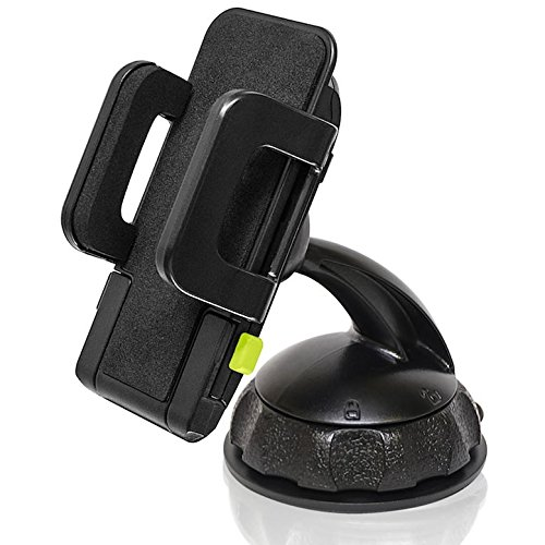 Bracketron Car Dash Mount Holder for Smartphone GPS Devices up to 4' Wide iPhone X 8 Plus 7 SE 6s 6 5s 5 4s 4 Samsung Galaxy S9 S8 S7 S6 S5 Note Google Pixel 2 XL LG Nexus Sony Nokia BT1-662-2