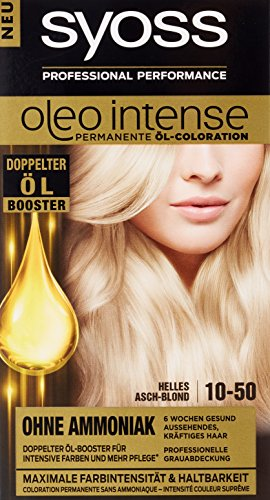 Syoss Oleo Intense Lot de 3 teintes de cheveux Blond cendré 10-50 ml