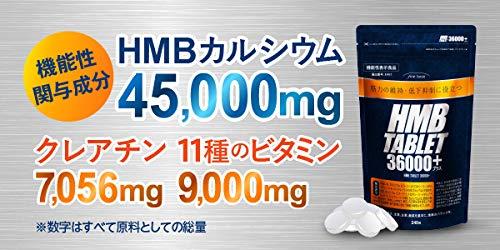 finebaseHMBタブレット36000プラスHMBサプリ8種のビタミン配合機能性表示食品日本製180粒30日分