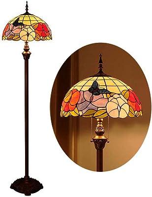 Lampada da terra in stile Tiffany, annata lampada da