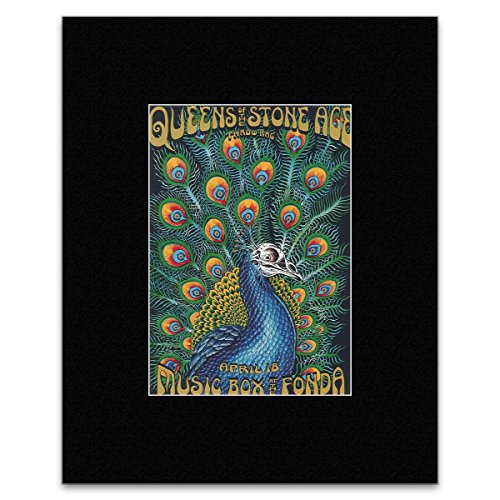 QUEENS OF THE STONE AGE - Peacock 2005 Matted Mini Poster - 26.5x18.5cm