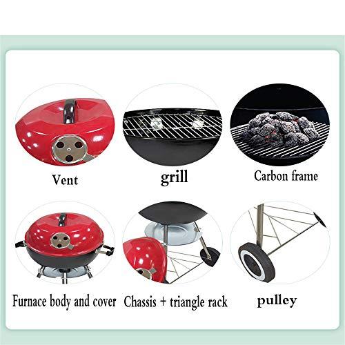 51hZDmzW17L - YWZQ Charcoal BBQ Grill Pit, Outdoor-Camping-Kocher Garten Grill Werkzeuge Grillzubehör Kochen Werkzeuge Küchen