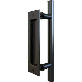 JUGREAT Sliding Door Handle Heavy Duty 11-13//16in Stainless Steel Sliding Barn Door Pipe Handle Pull Set