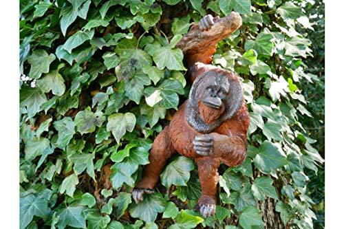 Get Goods Orangutan Wall Decoration Garden Ornament Monkey Outdoor Statue Hanging Figure