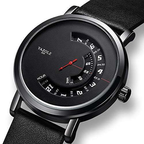 Hnxmkj Reloj de moda de los hombres de la plataforma giratoria impermeable de los hombres reloj deportivo de cuarzo reloj inteligente