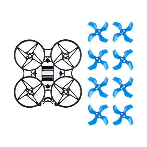BETAFPV Beta75X V2 3S Brushless Frame Kit Black with 2 Sets 40mm 4-Blade Props 1.5mm Shaft Blue for F4 AIO 12A FC 110x Series Motors 75mm Whoop Drone Like Beta75X HD Digital VTX
