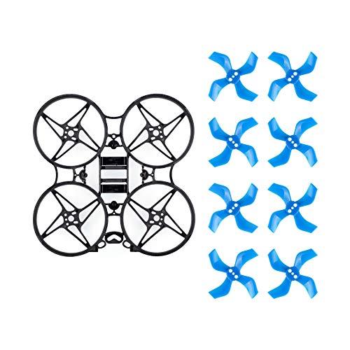 BETAFPV Beta75X V2 3S Brushless Frame Kit Black with 2 Sets 40mm 4-Blade Props 1.5mm Shaft Blue for F4 AIO 12A FC 110x Series Motors 75mm Whoop Drone Like Beta75X HD Digital VTX