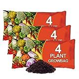 simpahome Nutrient Enriched Compost Grow Bag - 3 x 38L Grow Bags - Each Bag Holds 4 Plants.
