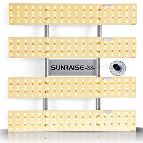 LED Grow Light SUNRAISE QB2000 3x3ft 4x4ft Dimmable LED Grow Lights with IR, High PPFD Upgraded Full Spectrum LED Growing Lamp with 648Pcs LEDs Commercial Grow Lights with Size 22.6'x22.6'