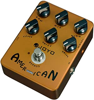 JOYO JF-14 American Sound Guitar Effects Pedal from Original Sound to Overdrive Pedal Amplifier Simulation 57 Deluxe AMP