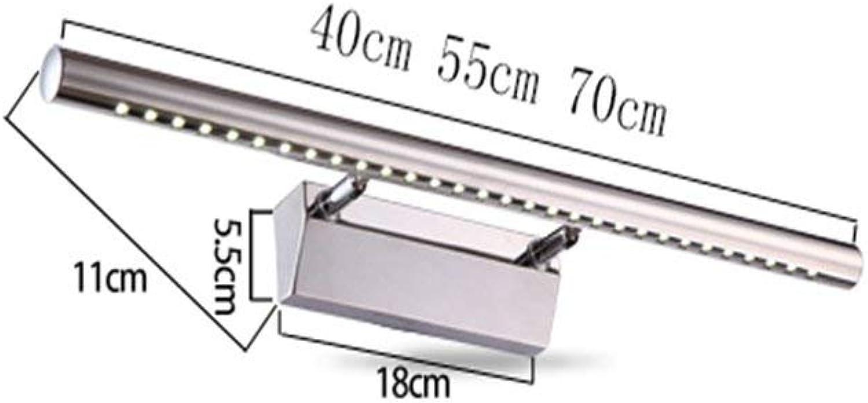 Wall light Führte Spiegel-Kabinett-spezielle Lampen, rostfreies Spiegel-Licht-waschendes Badezimmer-Eitelkeits-Spiegel-Licht, Wasserdichte Wand-Leuchte