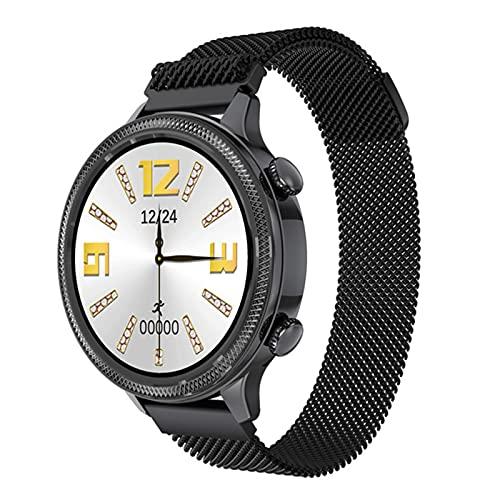 ZGLXZ H58 Mujer Inteligente Reloj De 1.1 Pulgadas Pantalla Táctil 24H Ritmo Cardíaco Monitor Fisiológico Femenino Mujer Smartwatch para Android iOS,C