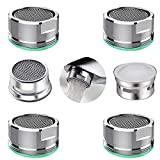 4PCS kitchen and bathroom faucet aerator, 2 packs of aerator filter replacement parts, with brass housing 15/16 inch 24mm external thread aerator faucet filter, with gasket, for kitchen and bathroom