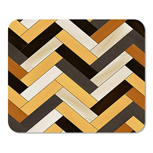 Mousepad Computer Notepad Office Beige Muster Bunt Realistisch Holzboden Fischgrätenmuster Parkett Braun Home School Game Player 25 * 30Cm