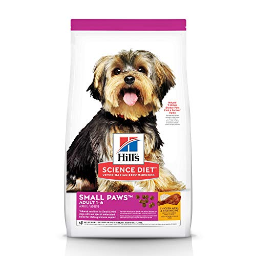 Hill's Science Diet Dry Dog Food, Adult, Small Paws for Small Breed Dogs, Chicken Meal & Rice, 4.5 lb. Bag
