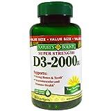 Vitamin D3 by Nature's Bounty, Supports Immune Health & Bone Health, 2000IU per Serving, 350 Softgels