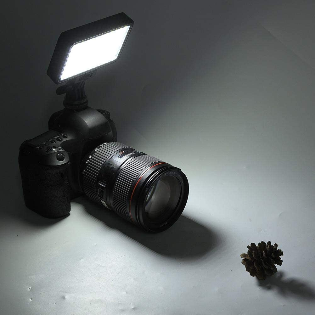 Xinwoer Video Fill Light 96LED 3200-6000K Camera LED Video Light Set with Battery and Charger 110-220V,Adopting Coded Digital Dimming 3