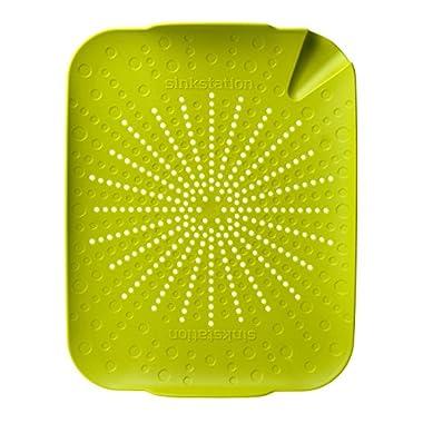 Sinkstation Flat Colander, Green, BPA Free