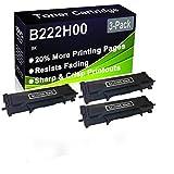 Paquete de 3 cartuchos de tóner (negro), compatible con impresoras Lexmark B222H00 (alta capacidad), compatible con impresoras Lexmark B2236DW, MB2236ADW, MB2236ADWE