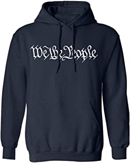 Men's We The People Hooded Fall Winter Sweatshirts Men Long Sleeve Fitness Tracksuits Hip-hop Pullovers