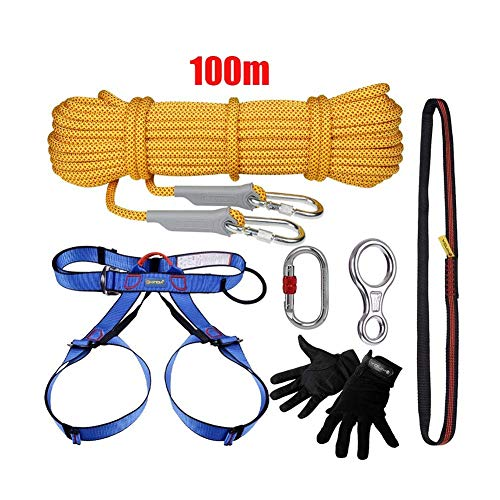 Framy 100M Survival Rope Kit, Kletterausrüstung Kletterset Outdoor Climbing Downhill Kit Mit Seil
