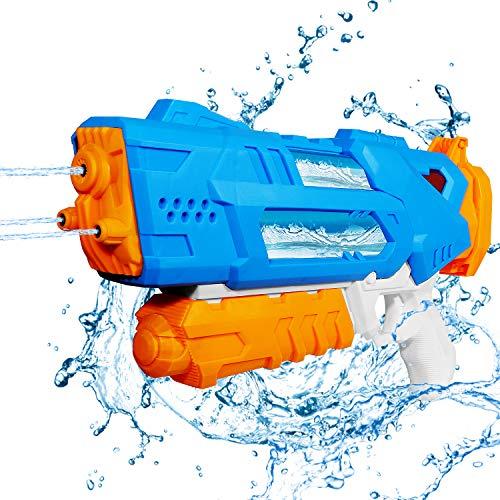 Auney Pistola de Agua de Juguete para Niños, Pistolas de Agua Transparentes Squirt Gun Playa Piscina Juguetes Acuáticos