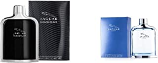 Classic Black by Jaguar for Men -EDT, 100ml with Classic Blue by Jaguar for Men -EDT, 100ml