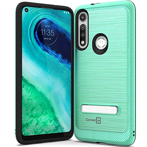 CoverON Metal Kickstand for Motorola Moto G Fast Case, Reinforced Magnetic Stand Hybrid Rugged Phone Cover - Teal