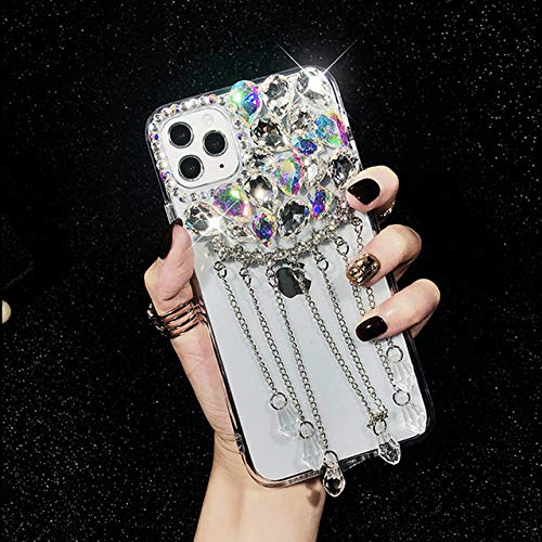LIUYAWEI Bling Diamond Shiny Glitter Funda para teléfono con Borde Suave para iPhone 6 7 8 Plus X XS XR MAX 11 Pro para Samsung S9 Note S20 Ultra Cover, A, para S20
