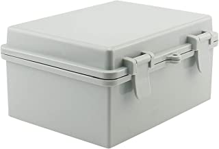 """Sunnyglade ABS Plastic Dustproof Waterproof IP65 Junction Box Universal Durable Electrical Project Enclosure With Lock (6.7""""x8.7""""x4.3"""")"""