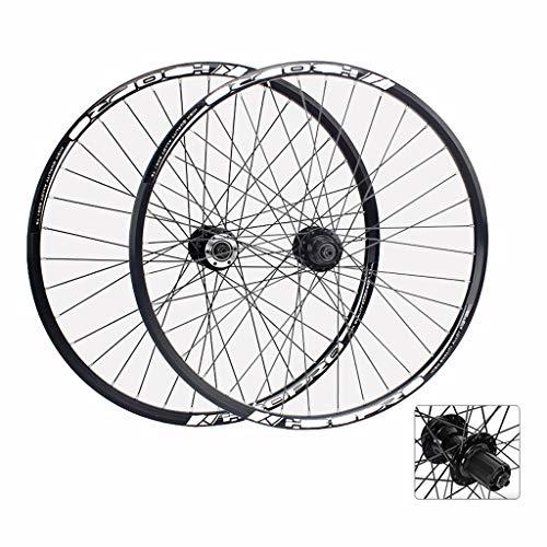 MTB Wheelset 26 Inch Bike Wheels 27.5 Inch Double Wall Aluminum Alloy Hybrid/Mountain Disc Brake for 7/8/9/10 Speed (Size : 27.5inch)