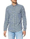 Springfield Camisa Cuadros Reciclado, Azul Medio, M para Hombre