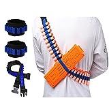 Aolvo, Munitionsschultergurt, Pfeile-Bandelier mit 2 Handgelenkbändern, Kit für Nerf N-Strike...