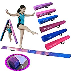 FC FUNCHEER 9FT Folding Floor Gymnastics Equipment for Kids Adults,Non Slip Rubber Base, Gymnastics Beam for Training, Physical Therapy and Professional Home Training with Carrying Bag