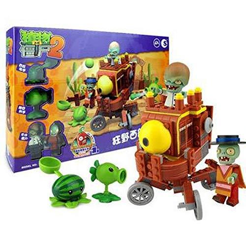 2020 New Plants Vs Zombies Blocks Creator Tree House Building Crazy Backyard Zombie Attack Set Model Brick Toys For Children Giocattoli per bambini Regali di Natale Regali di Capodanno
