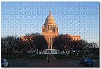 BEI YU MAN.co アメリカアメリカ州議会議事堂プロビデンス大人のためのジグソーパズル子供1000ピース木製パズルゲームギフト用家の装飾特別な旅行のお土産