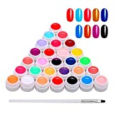 Anself Gel Nail 30 Colores, Gel de Pintura Semipermanente, Gel UV Set Gel Colores para Uñas, Nail Art Color Gel Set, Gel Nail Colores, Pintura Gel Nail Gel para Nail Art Design