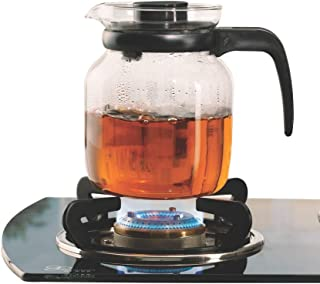 Borosil - IH11KF09210 Carafe Flame Proof Glass Kettle With Stainer, 1L