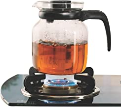 Borosil Carafe Flame Proof Glass Kettle With Stainer, 1L