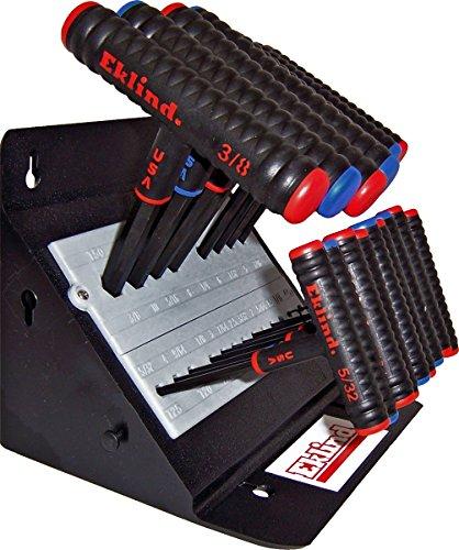 EKLIND 60625 Power-T T-Handle Hex allen wrench T-Key Combo- 6in Inch / MM (2 sets 19pc)