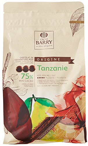 CACAO BARRY 75% Min Cacao Chocolat Tanzanie Pistoles 1 kg