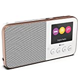 Pure UK Move T4 Pocket Rechargeable Personal FM/DAB+/DAB Digital Radio – Portable DAB Radio with Bluetooth, Full Colour Screen and Built-in Speaker, White